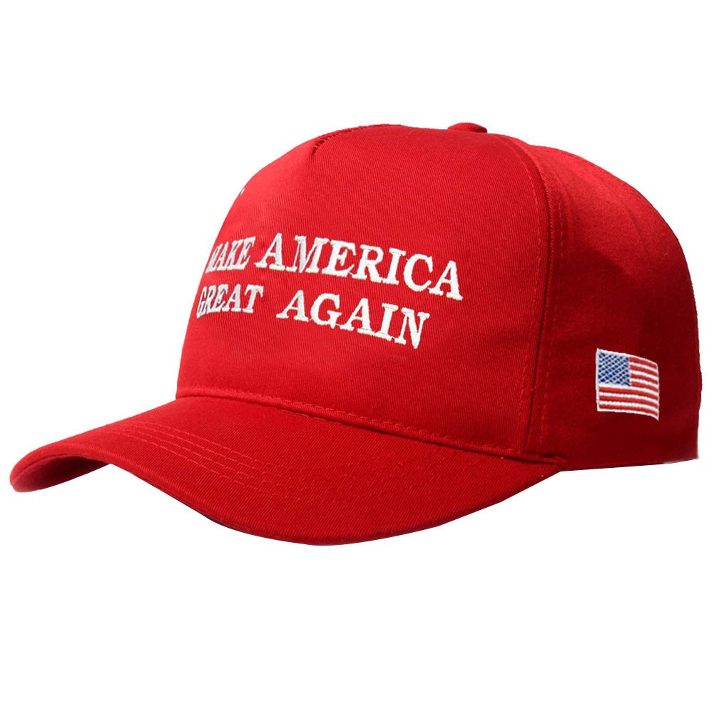 ink2055 Make America Great Again Flag Embroidery Baseball Cap Hat President Election Sun Hat