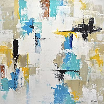 30 x 30 large original abstract painting square painting raw abstract modern acrylic painting fine art handmade by L.Beiboer
