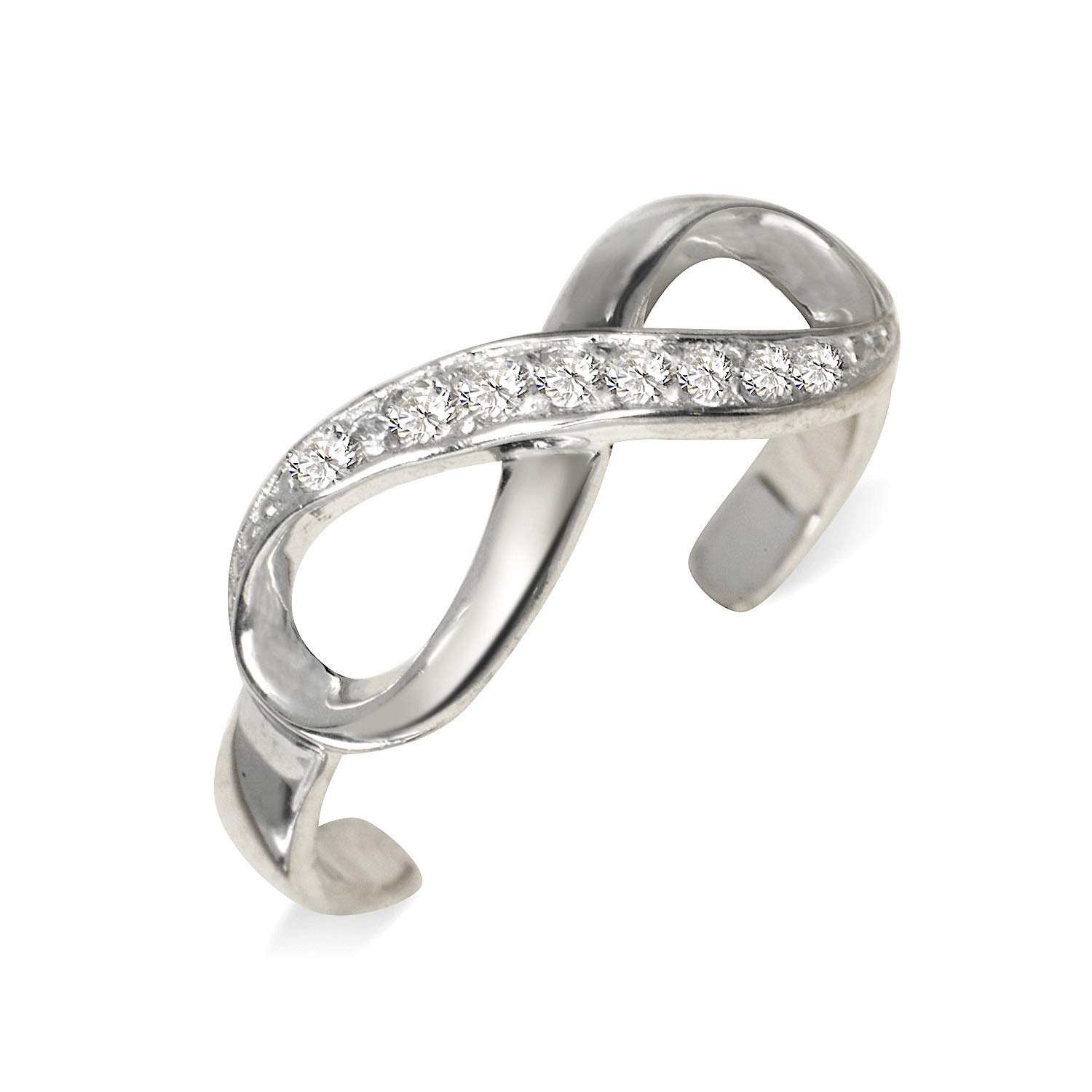 10K Yellow Gold Fancy Design Solid Adjustable Toe Ring