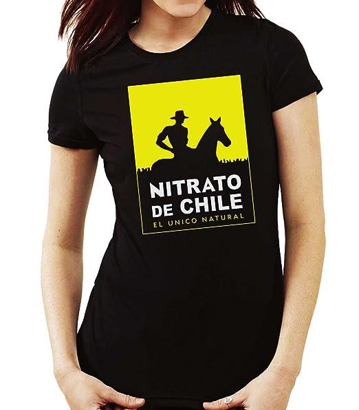 35mm - Camiseta Mujer Nitrato De Chile-Retro 80s: Amazon.es: Ropa y accesorios