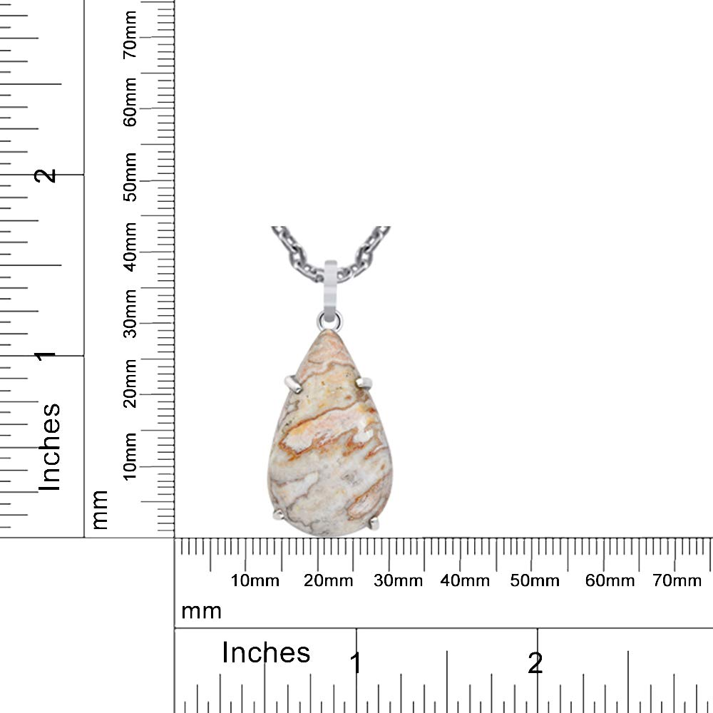 A Lovely Long Chain Pendant Necklace Set For Women A Vintage Vibe Orchid Jewelry 44 Ctw Natural Pear Red Mookaite Sterling Silver Pendant Necklace With An 18 Inch Chain