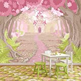 Princess Castle In Enchanted Wood Fairytale Wall Mural Kids Photo Wallpaper available in 8 Sizes Gigantic Digital