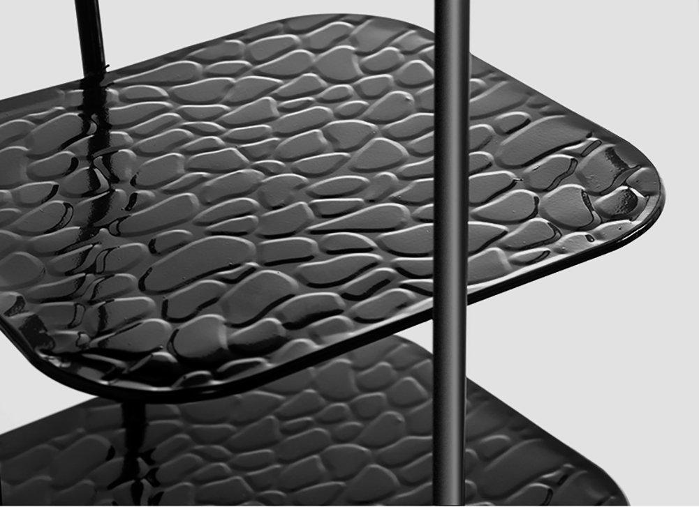 GWF Hoher schmaler Schuhregal-Metallschwarz-Speicher-Stand f/ür Stiefel-Balkon-Eingang Eckeinstiegs-Tier 7 stapelbares Regal PlatzsParender Schuhschrank Farbe : SCHWARZ