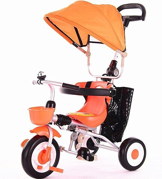 QXMEI Triciclo Infantil Trolley Portátil Plegable con Toldo ...