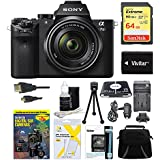 Sony Alpha a7IIK ILCE7M2K/B ILCE7M2K A7M2K A7M2 Interchangeable Digital Lens Camera with 28-70mm Lens Bundle - Includes 64GB SDXC Memory Card, Case, Spare Battery, Charger, Card Read and More