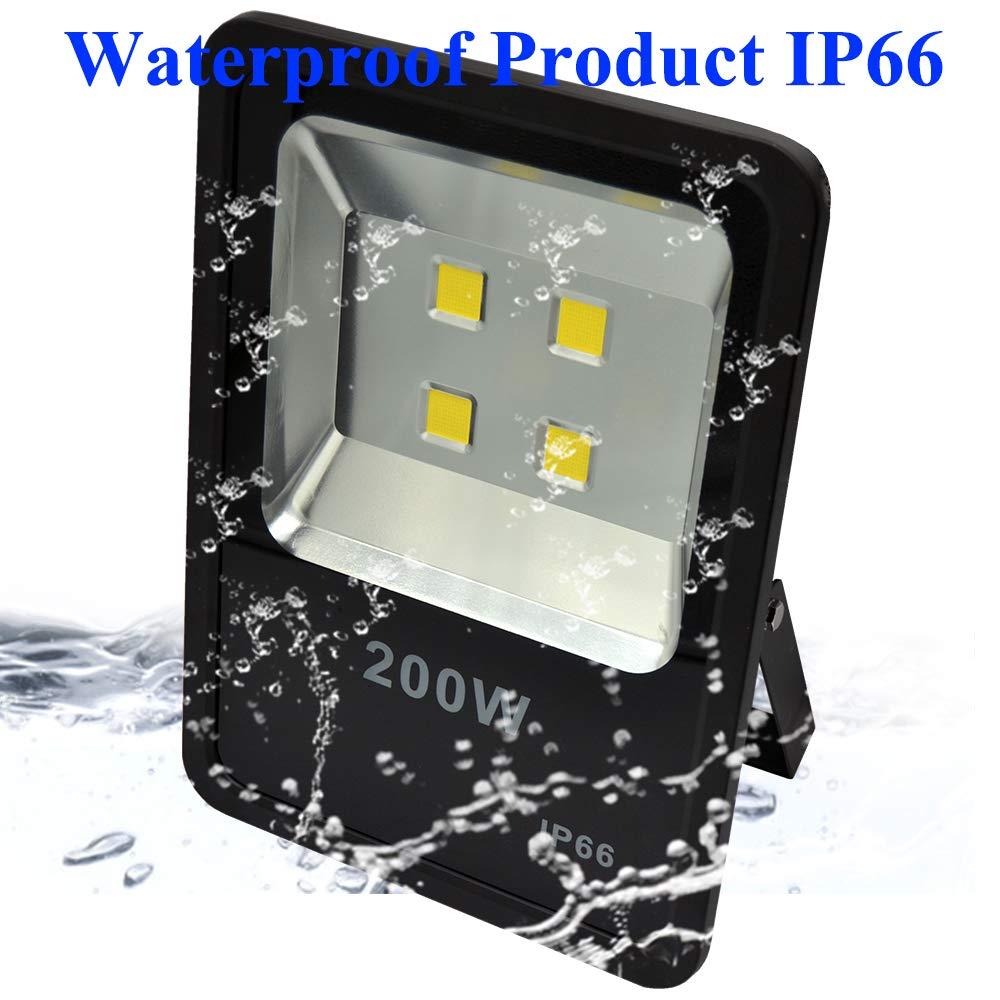 200W LED Flood Light 30000LM Stadium Lights Security Lighting fixtures Daylight AC110-240V by ZESOL (Image #3)