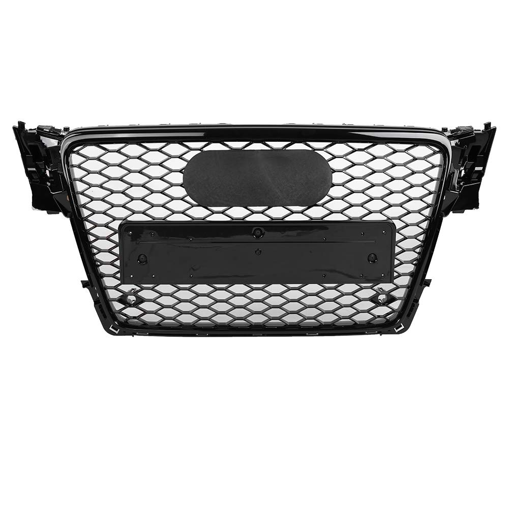 Fydun Front Sport Hex Mesh Honeycomb Hood Grill Made of ABS Plastic Gloss Black for A4//S4 B8 09-12