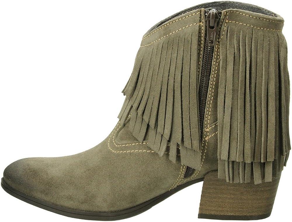 Taos Footwear Womens Shag Suede Fringe Boot,Khaki Suede,EU 41 M