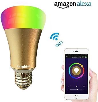larghine WiFi Smart LED Bombilla, Smartphone probada Alba Wake Up ...
