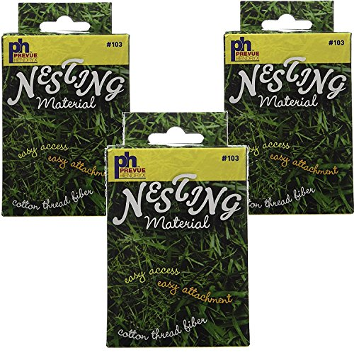 - (3 Pack) Prevue Pet Products Cotton Thread Fibers Bird Nesting Material