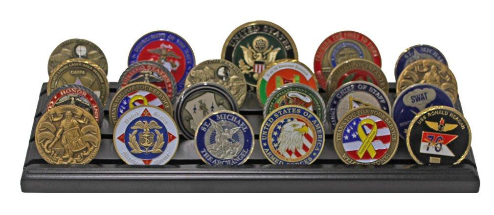 Amazon.com: Soporte para monedas de 4 filas con diseño de ...