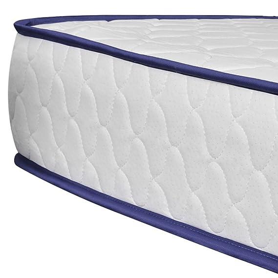 Lingjiushopping Cama de Matrimonio con colchón de Espuma viscoelástica Blanco 140 x 200 cm Estructura de Cama Color Color Blanco: Amazon.es: Hogar