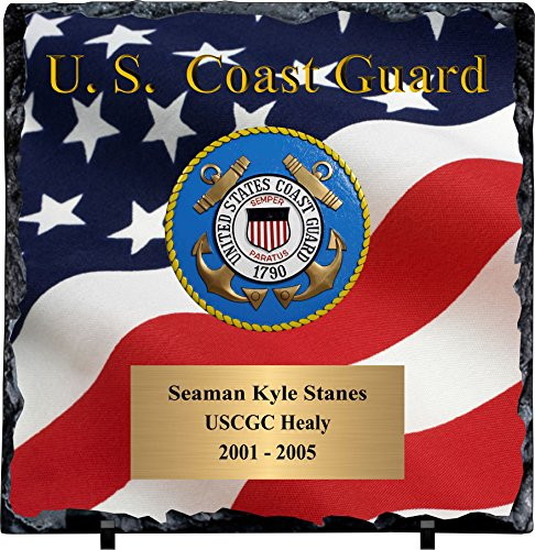 - Personalized Coast Guard Slate Plaque