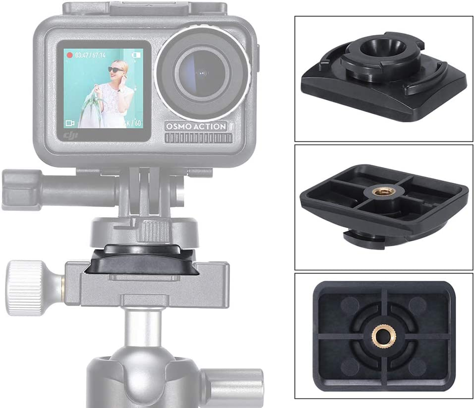 Yifant U-13 Tripod Adapter Arca Base for DJI OSMO Action Camera Expansion Accessories Quick Install Mount