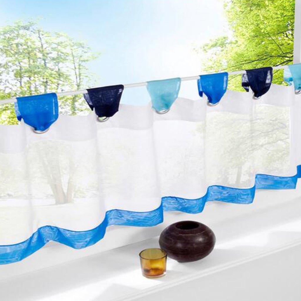 Amazon.de: SIMPVALE Vorhänge aus Baumwolle Leinen Cafe Volants Küche ...