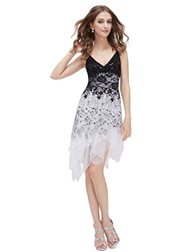Ever Pretty Vogue Lace Sequined V-neck Chic Cocktail Party Club Dress 00045