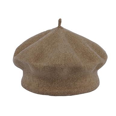 3c343f7e220 La Vogue Kids Baby Toddler Girls Solid Color Classic Beret Hat Cap Brown   Amazon.co.uk  Clothing