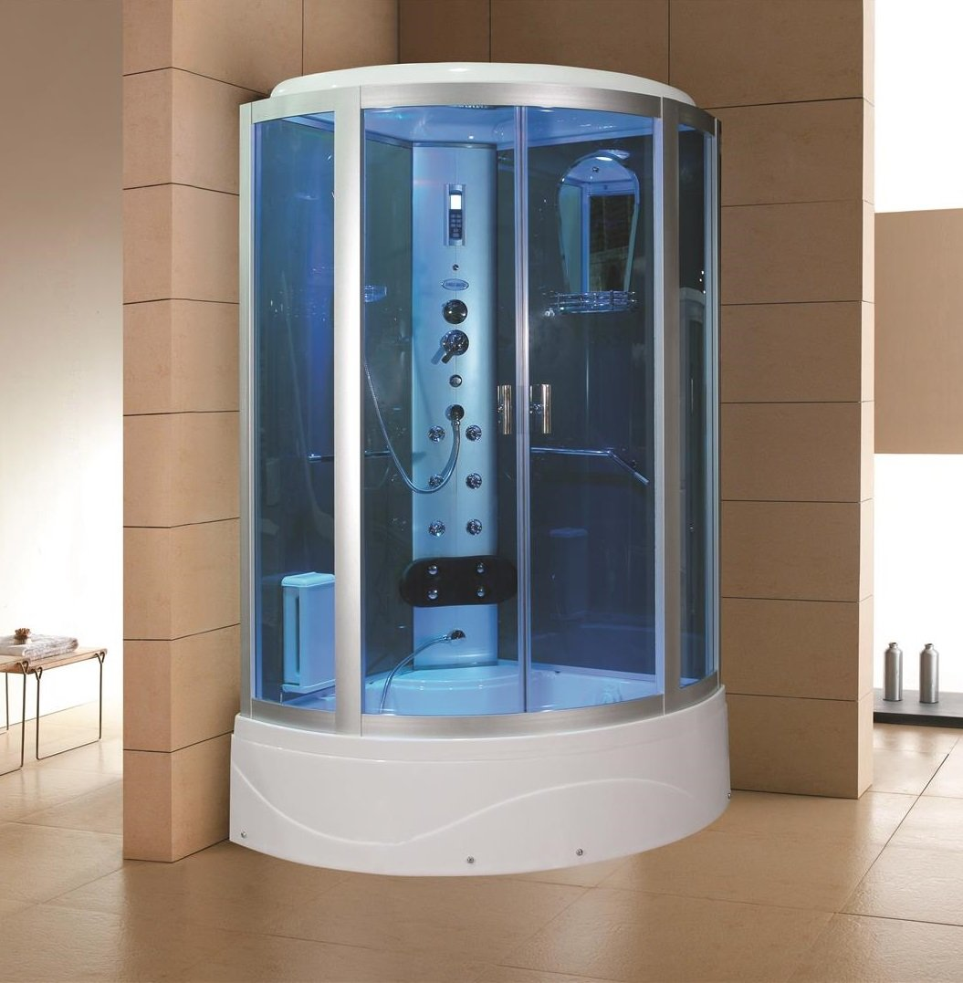 Sliding Door Steam Shower Enclosure Unit Size: 86.2\
