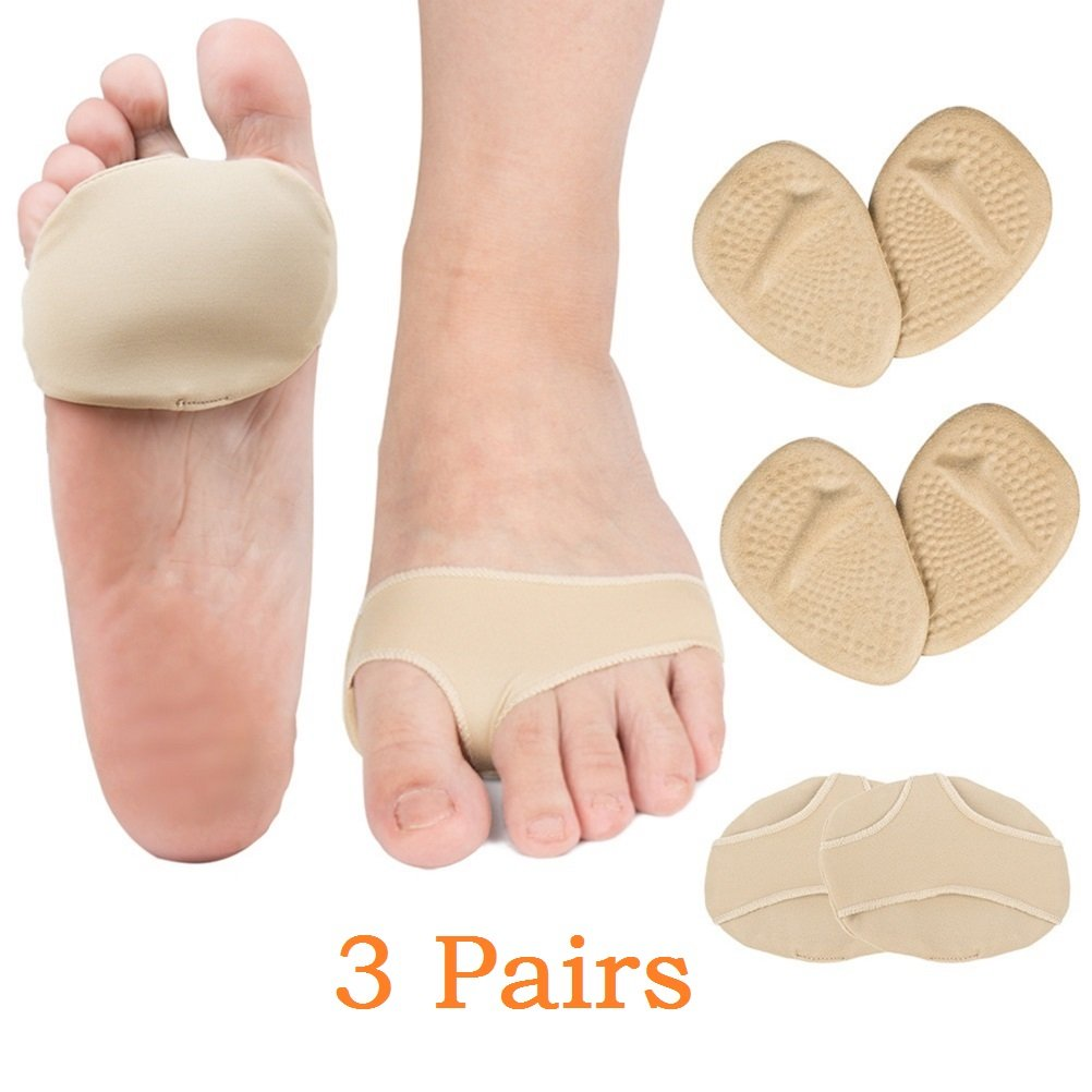 Forefoot Cushion + Metatarsal Pads Kit Relieve Forefoot Pressure, Foot Pain, Soften Calluses - Made of Medical Soft Silicone Material