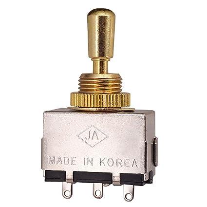 SGerste Metal 3 Vías Cobre Pomo Pulsador Selector Interruptor Oro para Gibson Les Paul/Epiphone