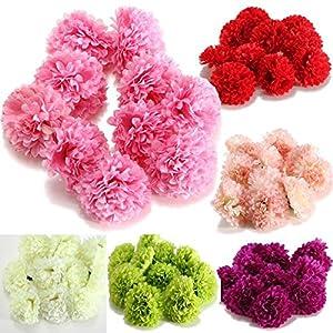Pink Lizard 10Pcs Artificial Daisy Mum Flower Silk Spherical Heads Bulk Home Party Wedding Decor 120