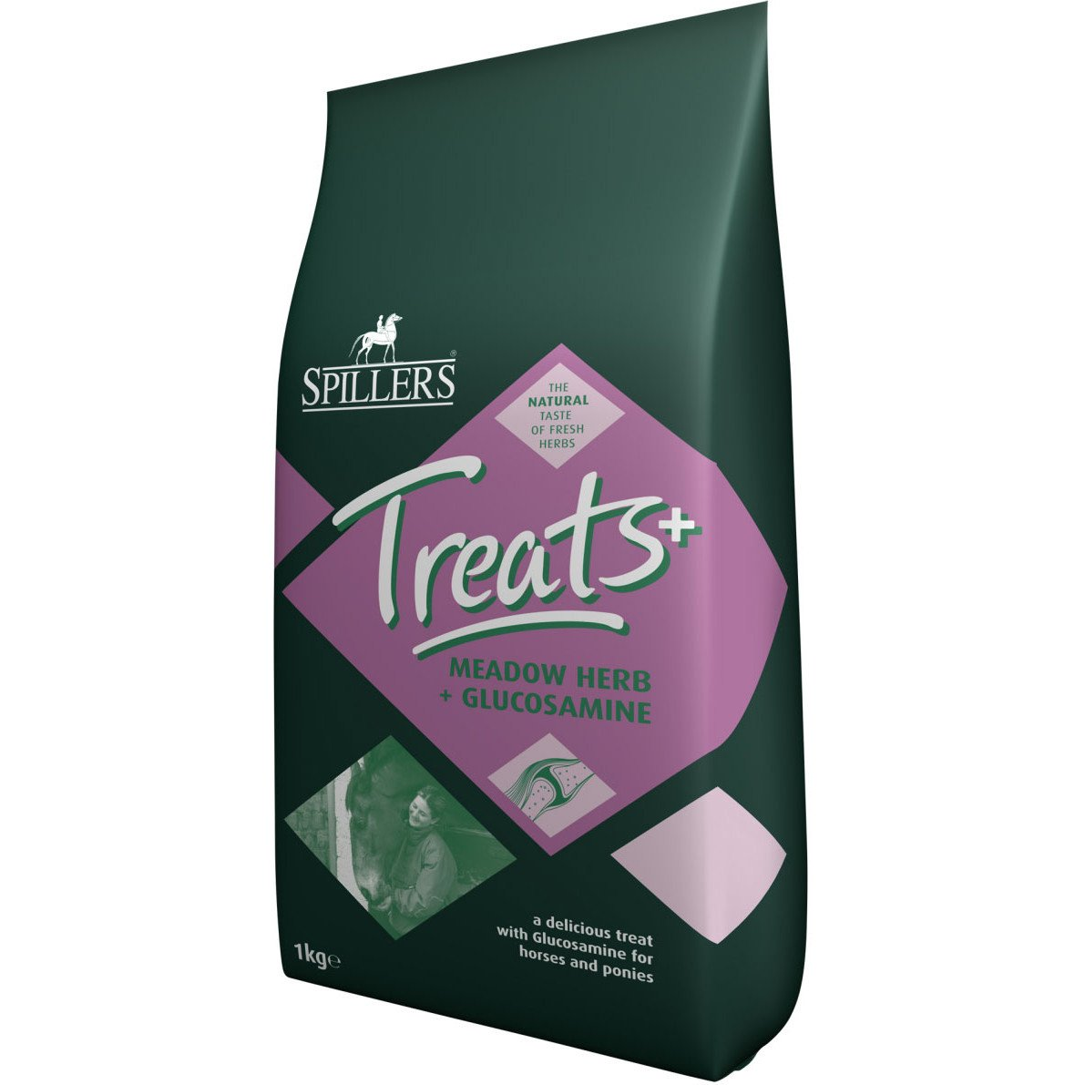 Spillers Meadowherb Treats with Glucosamine Horse Treats 1kg Brown