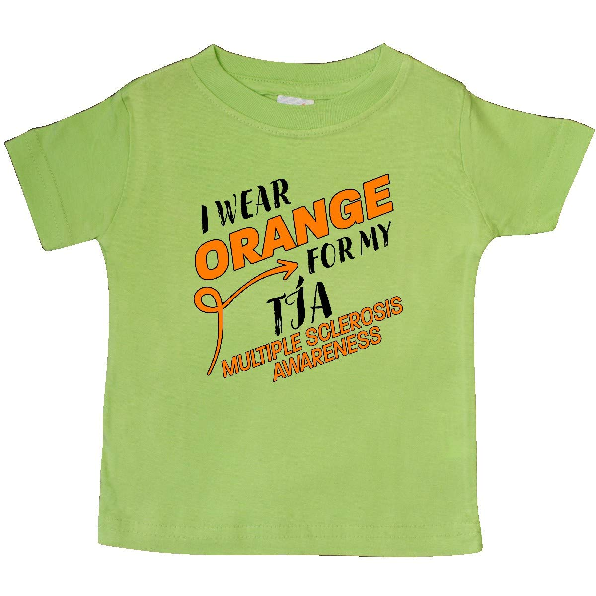 inktastic I Wear Orange for My T/ía Multiple Sclerosis Awareness Baby T-Shirt