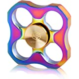 Prime Fidget Spinner Anxiety AttentionToy Rainbow Colorful Tri-Spinner Finger Perfect For ADD ADHD Relieves Stress Autism And Relax