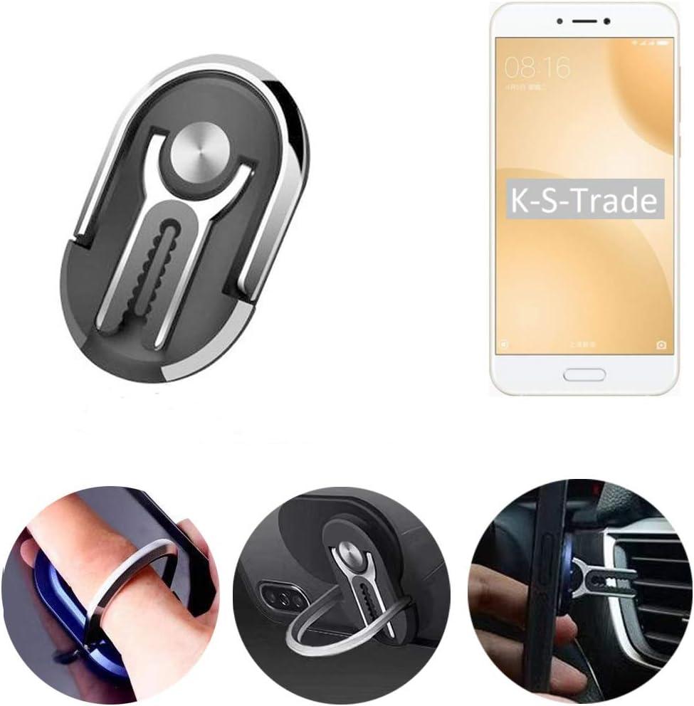 K-S-Trade 3en1 Rejilla De Ventilación Rejilla De Montaje De Teléfono Móvil Anillo De Montaje De Mesa para Xiaomi Mi 5c Soporte De Dedo Anillo De Teléfono