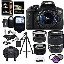 Ritz Camera Canon EOS Rebel T6i 24.2 MP SLR Camera Bundle with Accessory (19 Items)