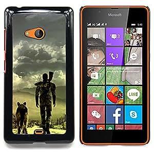 """Qstar Arte & diseño plástico duro Fundas Cover Cubre Hard Case Cover para Nokia Lumia 540 (Apocalíptico perro"""")"""