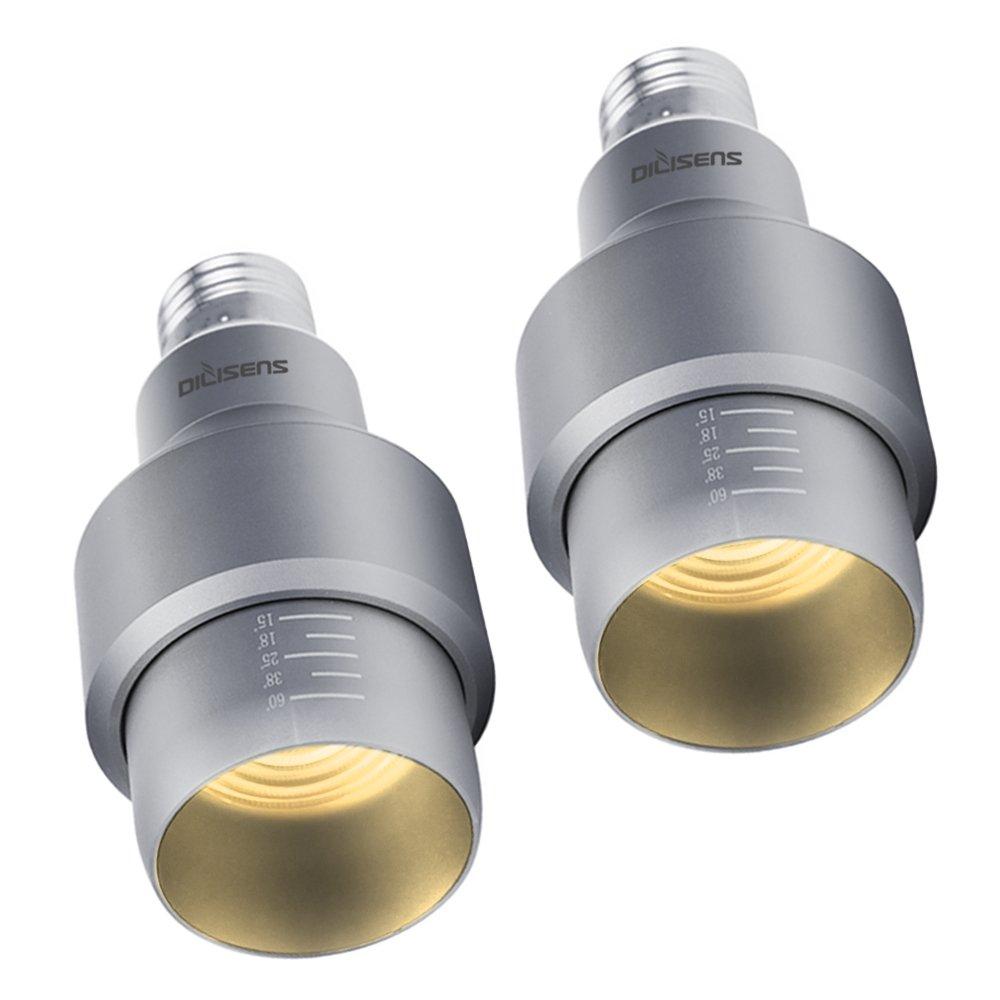 DILISENS Spotlight Bulb Lamp 7 Watts LED Bulbs 15° - 60° Adjustable Aluminum Lamps, E27 Base, Warm White 2800K - Perfect for Dinning Room Coffee House Hall 2 Pack (Warm White)