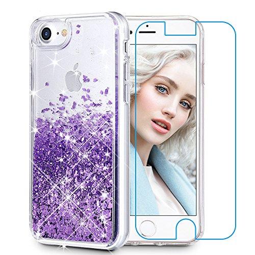 [해외]아이폰 66S 케이스 아이폰 66S 글리터 케이스 맥스다라 충격방지 글리터 흐르는 액체 플로팅 럭셔리 블링 스파클 퀵샌드 소프트 케이스 아이폰4.7-용 예쁜 패션 크리에이티브 디자인 / Maxdara Case for iPhone 6S 6 7 8 Glitter Case Tempered Glas...