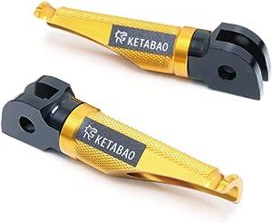 Gold Front Racing Foot Pegs Footpegs For Kawasaki Z250 Z300 Ninja 300R 250R Z125 /Pro