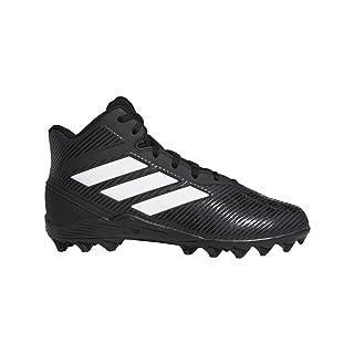 adidas Unisex-Kid's Freak Mid MD Football Shoe, Black/White/Black, 5 M US Big Kid