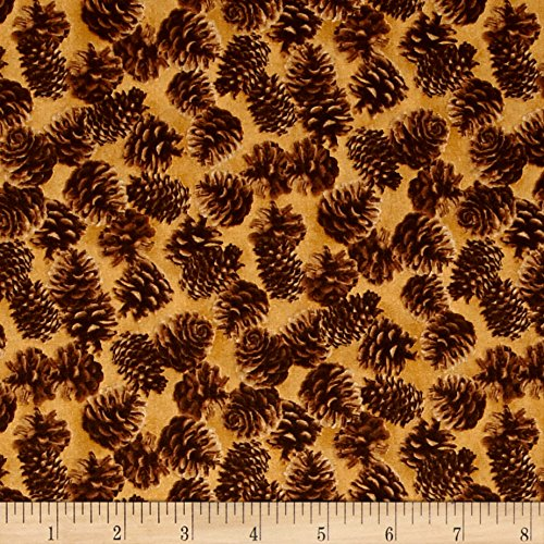 Northwoods Pinecone (Northwoods Pinecones Brown Fabric By The Yard)