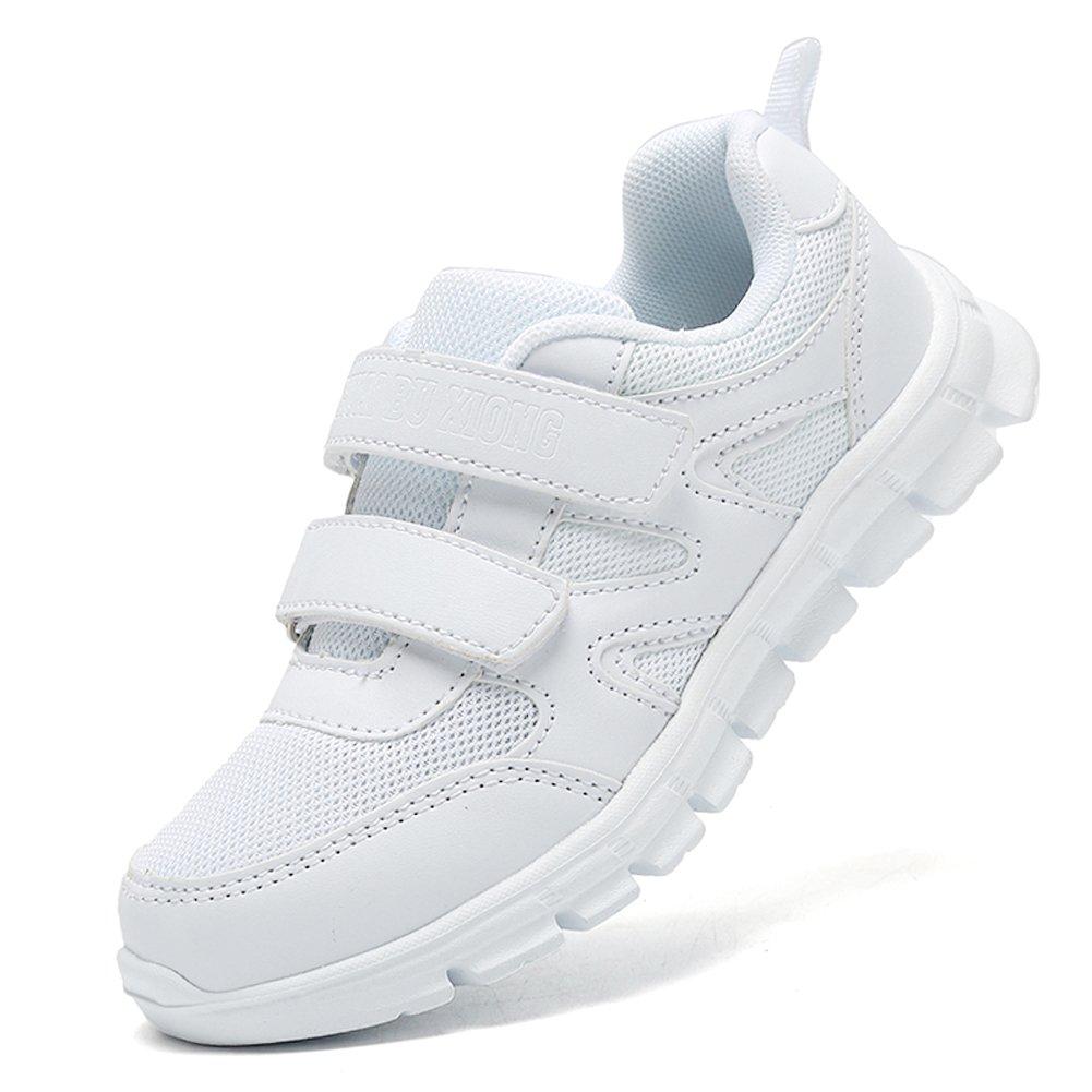 LakeRom Girls Shoes for Kids Boys Sneakers School Uniform White Shoes Casual Sport ShoesLRBX008-WhiteM-35