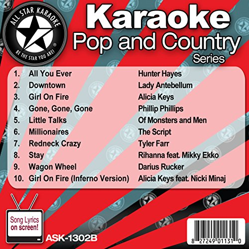 Man Karaoke Music - All Star Karaoke Pop and Country Series (ASK-1302B)