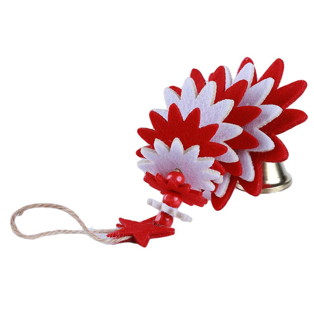 LJSLYJ Wind Chimes Christmas Tree Shape Non-Woven Christmas Tree Pendant DIY Door Hanging red