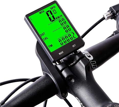 XWEM Ordenador De Bicicleta, Moto Inalámbrico Bicicleta De Carretera Bicicleta De Montaña Velocímetro Impermeable del Odómetro Pantalla Grande Velocidad De Grabación Y La Distancia Inglés: Amazon.es: Deportes y aire libre