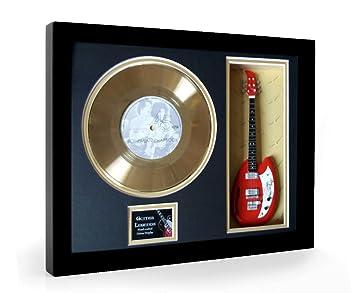 Queen Bohemian Rhapsody Framed Mini Guitarra & Disco de oro Disc Display ...
