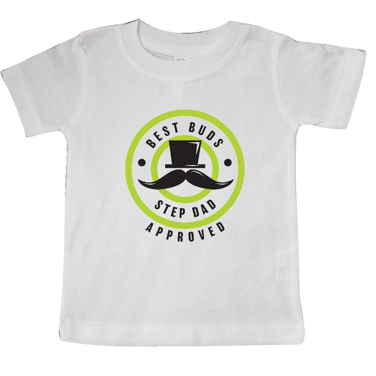inktastic Best Buds Step Dad Approved with Tophat and Mustache Baby T-Shirt