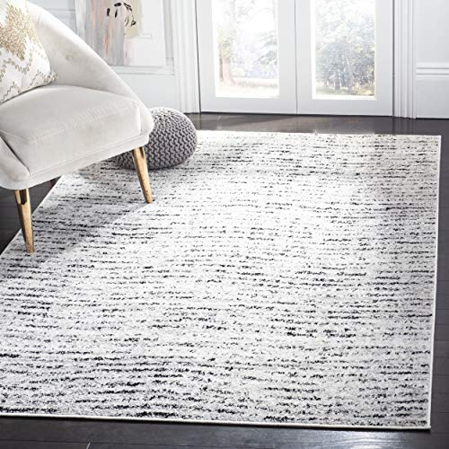 Safavieh ADR117B-4 Adirondack Collection ADR117B Contemporary Area Rug, 4' x 6', Ivory/Silver ()