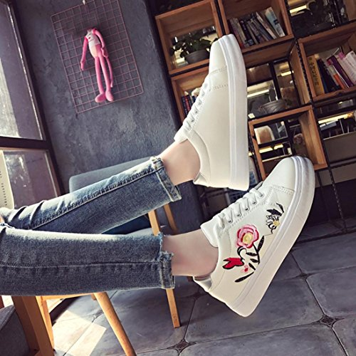 Sonnena Women Boots Ladies Ankle Retro Combat Boot Women's Lace Funky Vintage Gothic Ankle Boots UK Size Sneakers White IuntH8t