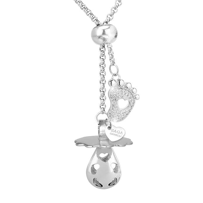Saga joyas – Collar llamador de ángeles chupete longitud ajustable – Conjunto de Charm Tal