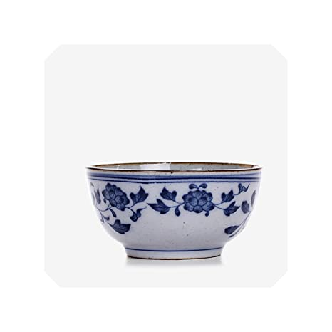 Amazon com   Japanese Style Blue and White Vintage Teacup