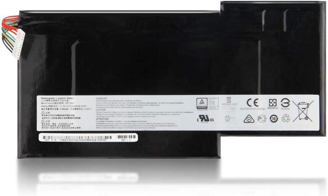 11.4V 64.98Wh 5700mAh BTY-M6J Batería para portátil Compatible con MSI GS73 7RE-004CN GS63 7RE-009CN 7RE-018CN GS73VR 6RF-013CN 7RG-035CN-P.P.-Pre-5-P.P.-Es-es-V-7R-5-C-V-5-V-5-V-5-V-5-V-5-ES