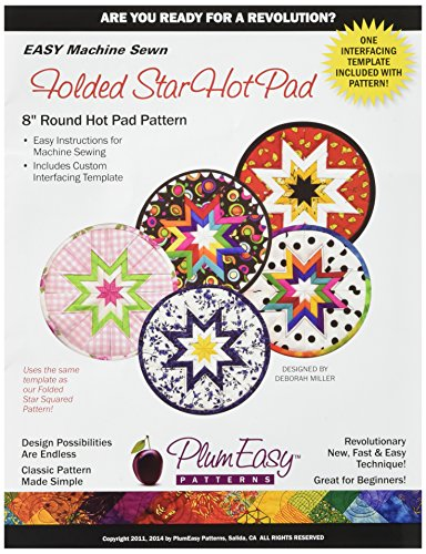 PlumEasy Patterns Rounded Folded Star Hot Pad Template