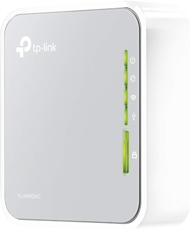 TP-Link TL-WR902AC Nano Router AC750 WiFi portátil, 2.4 / 5 GHz, 1 ...