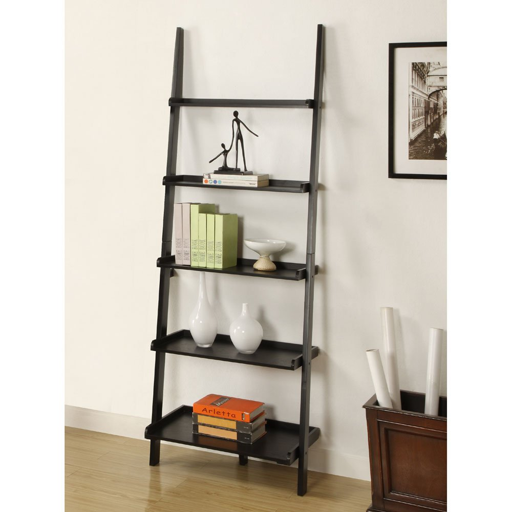 Amazon Mintra Black Finish 5 Tier Ladder Book Shelf Kitchen Dining